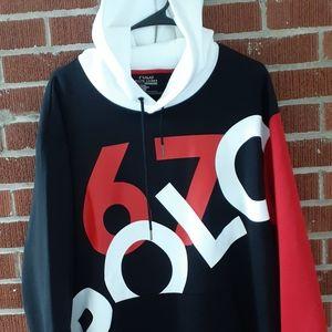 🐎XL New)Ralph Lauren Polo 67 hoodie sweatshirt